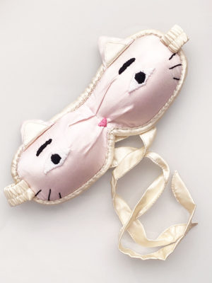 Lucky Cat curved sleep mask, Peace Silk, Fair Fashionista
