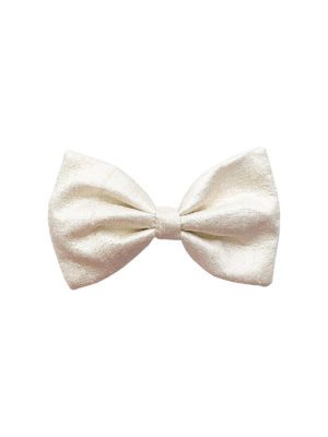 Sand dollar Peace Silk Classic bow French Barrette, Fair Fashionista