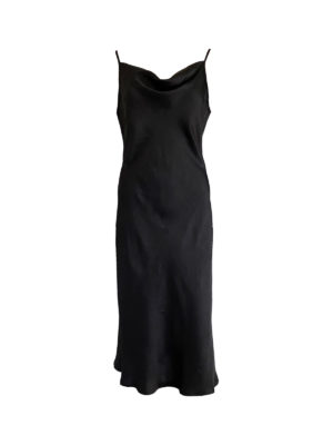 Black Slip Dress, mid-calf, Fair Fashionista