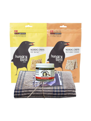 Gift Pack tea towel, tapenade and Nordic crisps
